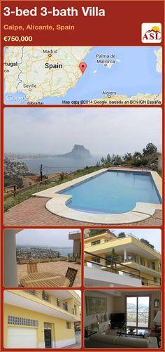 3-bed 3-bath Villa in Calpe, Alicante, Spain ►€750,000 #PropertyForSaleInSpain