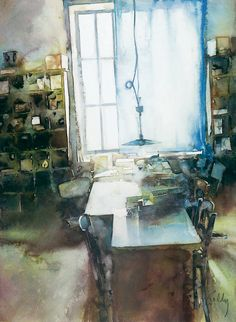 Marc Folly Watercolor Painting