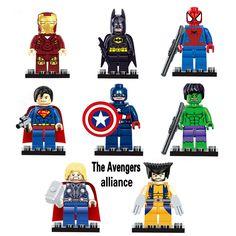 Single Sale Marvel DC Super Heroes Series The Avengers Alliance batman iron Man Minifigures Action DIY Bricks Toy VS star wars //Price: $US $0.80 & FREE Shipping //     #clknetwork