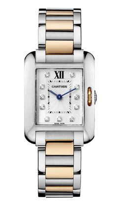 Wow, now this is nice. Of course, too nice. But it is aspirational. Cartier Tank Anglaise Diamond 18K Gold Two Tone Womens Watch WT100024 - Cartier - Brands