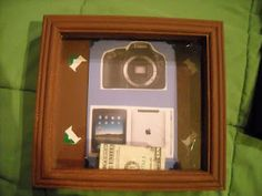 Great ideas on pinterest shadow box money and first day for Money saving box ideas