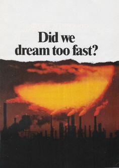 Did we dream too fast?