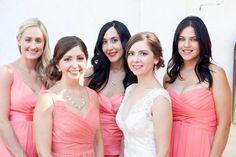 Love doing different dresses for each #bridesmaid #coral #stylisheventsbylisa #maricopamanor #jillandmichaelweddings #bridesmaids #dresses
