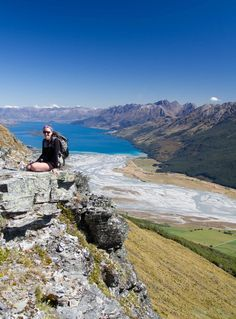 View from Mount Alfred - looking towards Lake Wakatipu - no views on the way up until the very end =\