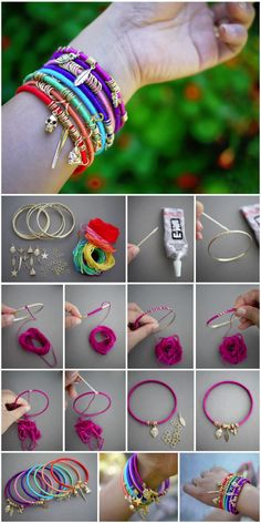 DIY friendship charm bracelets colorful jewelry bracelets diy charms crafts