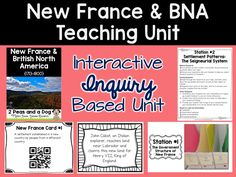 Teaching New France or British North America? Try this inquiry based unit. Students will engage and interact with these lessons. ($)