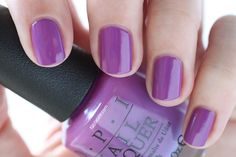 OPI New Orleans I Manicure For Beads Purple Cream Nail Polish - Summer Nails