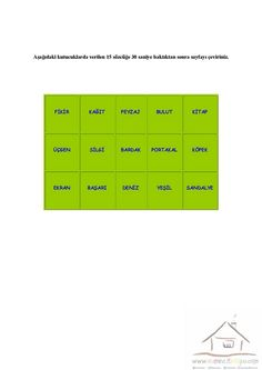 4.Sınıf Dikkat Etkinlikleri | Dikkat ve Görsel Algılama Bar Chart, Memories, Cards, Memoirs, Bar Graphs, Maps, Remember This