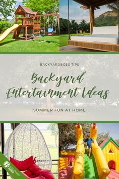 Suggestions for ways to turn your outdoor space into an entertainment zone, with ideas for games, viewing movies, lighting, and relaxation tactics. Outdoor Fun, Outdoor Spaces, Outdoor Decor, Fence Planters, Entertainment Ideas, Diy Garden Projects, Water Activities, Interesting Reads, Product Review