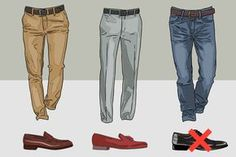 Pair shoes and pants in a GIF-fy: | 17 Shoe Charts Every Man Needs To Bookmark