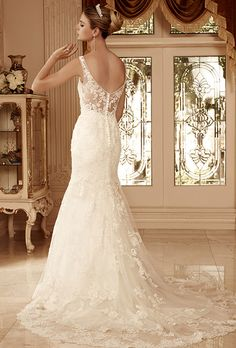 Casablanca Bridal  This would be beautiful on Carmen