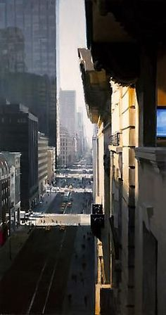 NYC. Fifth Avenue 2010, oil on panel / Ben Aronson