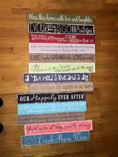 Make and take sign party life expressions decor for Home craft expressions decor