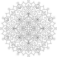 16. Flower Mandala printable coloring page. by PrintBliss on Etsy