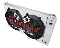 "1968-1977 Chevelle 3 Row Alliant Radiator /& 14/"" Fan Combo"