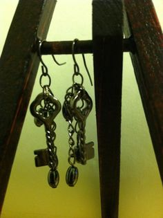 Key and chain earrings by NativePrideCreations on Etsy, $3.99
