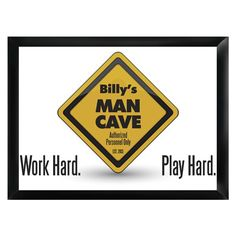 Personalized Traditional Pub Sign - Work and Play
