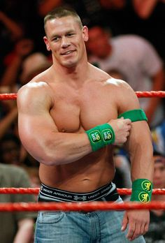 "Who doesn`t know John Cena, ""The ""You Can`t See Me"" and the WWE Superstar. His full name is John Felix Anthony Cena. John Cena was borin in April, 1977 John Cena Family, Wwe Superstar John Cena, Catch, Wwe Tna, Wwe Champions, Raining Men, Wwe Wrestlers, Wwe Superstars, Man Crush"