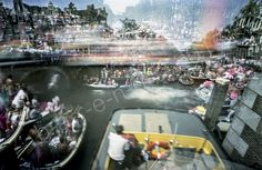 This pinhole photo was made during GayPride Amsterdam 2015. The pinhole photos was made of three separate exposures.