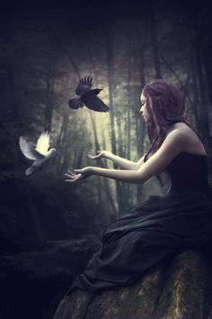 Each one of us has a dark side and a side full of light… Through words and actions you decide the correct balance.  ~Charlotte (PixieWinksFairyWhispers)