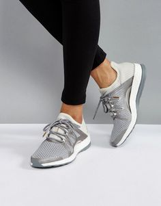 62e2bb12f9cde adidas Training Pureboost Xpose Sneakers In Gray at asos.com