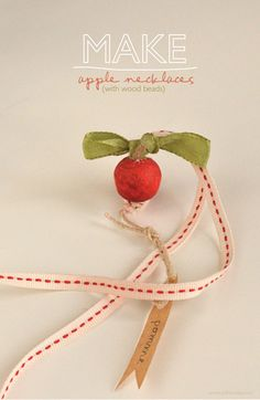 willowday: Apple Necklaces (or lariat for classroom keys)