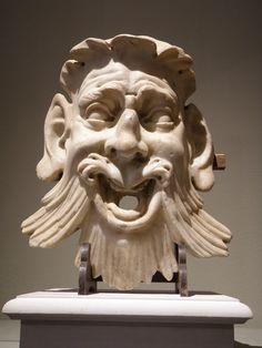 White marble grotesque mask (Florence Sculptor near the manners of Bernardo Buontalenti Art Fair, Manners, White Marble, Florence, Lion Sculpture, Statue, Sculpture, Behavior