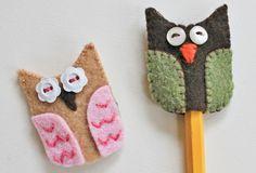 Owl Accessories - Pencil topper or barrette