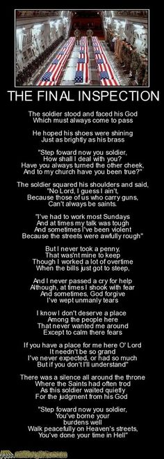 military funny The Final Inspection Military Quotes, Military Humor, Military Love, Marine Corps Humor, Warrior Quotes, American Soldiers, Badass Quotes, Quotable Quotes, Travel Quotes