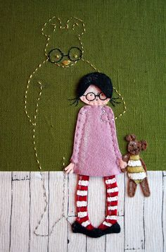 my imaginary friend  :)  #embroidery