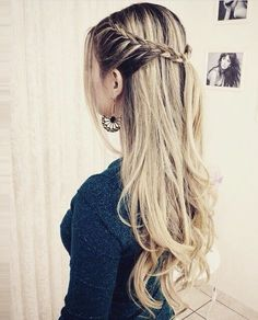 first day of school hairstyles for school 20 Effortless Back to School Hairstyle - 20 Effortless Back to Back To School Hairstyles, Easy Hairstyles For Long Hair, Braids For Long Hair, Pretty Hairstyles, Straight Hairstyles, Girl Hairstyles, Wedding Hairstyles, Updo Hairstyle, Everyday Hairstyles