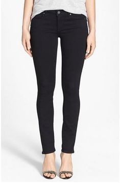 Black jeans inspiration for Stitch Fix >> Jeans for moms: 5 Must-have pairs you need in your closet - Paige Denim Black Skinny Jeans from Nordstrom