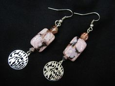 'Stunning Shema Hebrew Prayer Earrings with floral beads' is going up for auction at  4pm Sun, Mar 3 with a starting bid of $14.