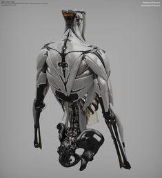 Ghost In The Shell — Vitaly Bulgarov - Ghost in the Shell Robot Concept Art, Armor Concept, Character Concept, Character Design, 3d Character, Science Fiction, Robot Parts, Arte Robot, Sci Fi Armor