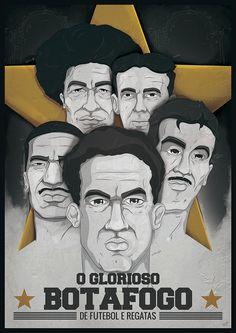 Ídolos do Botafogo, by Henrique Sanches para a agência Clarté.