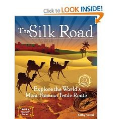 Great living book with activities. This book is a journey along the Silk Road and sheds light on a legendary passage between the Mediterranean Sea and China, outlines the history, geography, and people of the Silk Road region. Spanning from Roman times until the Age of Exploration.
