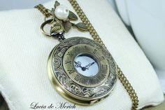 Relógio de bolso colar de presente do estilo do vintage uder por luciademerich