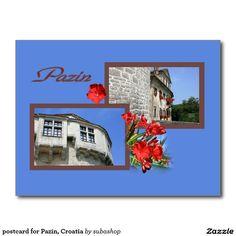 postcard for Pazin, Croatia Briefkaart