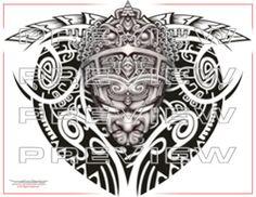 perfect aztec emperor tattoo design