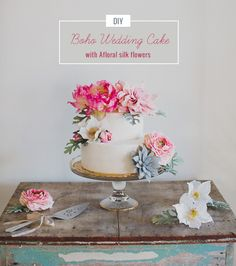DIY Boho Wedding Cak