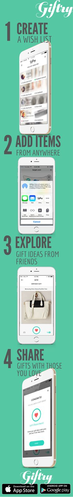 How to never give a bad gift again in 4 easy steps using the free Giftry app!
