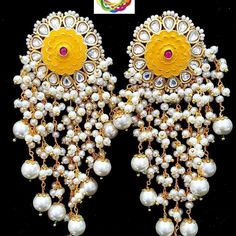 Exclusive statement Kundan Meenakari and pearl earrings By #induhandicrafts . 👉#Swipe for more . 👉#resellers and #wholeseller whatsapp on +91-6376742660 . #clcodejewellery #cljewellery #cl #craftlifejaipur #craftlife #earringlover #earringstyle #meenakariearrings #jaipurearrings #indianearrings #traditionalearrings #ethenicearrings #partyearrings #officeearrings #officewearstyle #instaearrings #fashionblogger #fashionearrings #imitationjewellery #womenearrings