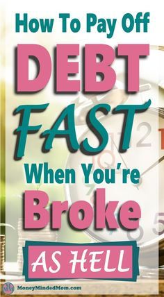 How To Pay Off Debt Fast When You're Broke As Hell~ Are you ready to pay off debt quickly and start your debt free life? It can be difficult to become debt free but with a debt repayment plan, you can get out of debt fast. Read on for some debt free hacks Debt Repayment, Debt Payoff, Debt Consolidation, Ways To Save Money, Money Saving Tips, Money Tips, Money Savers, Money Plan, Managing Money