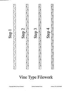 Knives by Bill Vining - Vine Filework - I wonder if this would work on a statnless watch case? Knives And Tools, Knives And Swords, Knife Filework, Forging Knives, Global Knife Set, Knife Template, Diy Knife, Blacksmith Projects, Metal Engraving