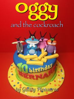 Oggy & the cockroach cake by Guilty Pleasures