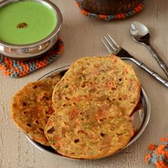 Carrot Roti- Indian Wheat FlatBread with Carrots and Spices.