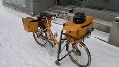 Finnish Posti semi-electric delivery bike | by hugovk