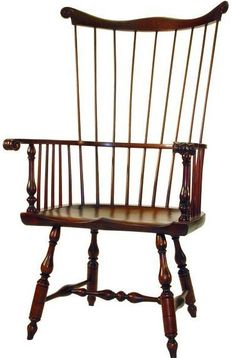 D.R.DIMES Windsor Chairs Fanbacks and Comb-Backs - Philadelphia Comb-back Windsor Chair