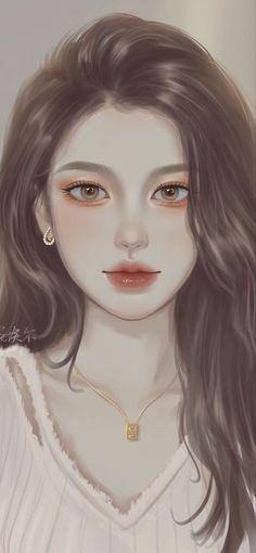 Anime Angel Girl, Manga Anime Girl, Kawaii Anime Girl, Beautiful Fantasy Art, Beautiful Anime Girl, Digital Art Girl, Digital Portrait, Makeup Drawing, Art Painting Gallery
