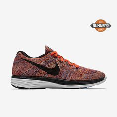 new arrival 94ebf 3677f Chaussure de running Nike Flyknit Lunar 3 pas cher pour Homme  Harmonie/Cramoisi total/